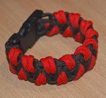 Подарок Паракордовый браслет выживания 'Красный Дракон'