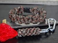 Подарок Паракордовый браслет выживания 'Хаки'