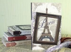 Подарок Винтажный блокнот с рамкой 'Париж'