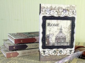 Подарок Винтажный блокнот с рамкой 'Рим'