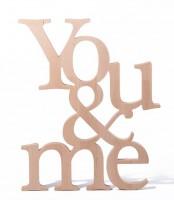 Подарок Композиция 'You and Me' из натурального дерева