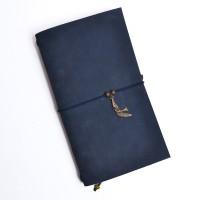 Подарок Кожаный блокнот ручной работы 'Chicardi navy'