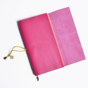 Кожаный блокнот ручной работы 'Chicardi pink'