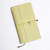 Кожаный блокнот ручной работы 'Chicardi lime'
