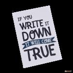 Подарок Тетрадь 'Chicardi It will be true (If you write it)'