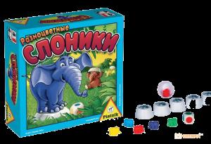 Настольная игра 'Разноцветные слоники'