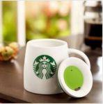 Подарок Керамическая чашка с крышкой 'Starbucks'