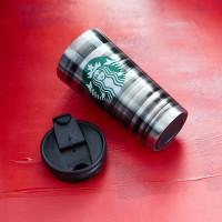 Подарок Стальная термокружка 'Starbucks -Зебра'