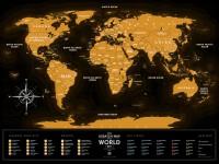 Подарок Скретч карта мира Travel Map 'Travel Map Black' (англ)