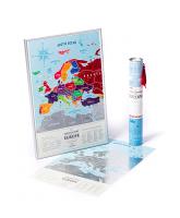 Подарок Скретч карта Европы 'Travel map Silver'