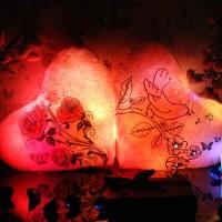 Подарок Светящаяся Подушка – Сердце 'Весна-Птички'