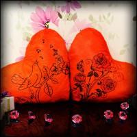 Подарок Светящаяся Подушка – Сердце 'Весна'