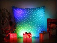 Подарок Новогодняя светящаяся подушка