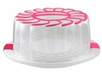 Подарок Контейнер для торта Snips, розовый (28 см)