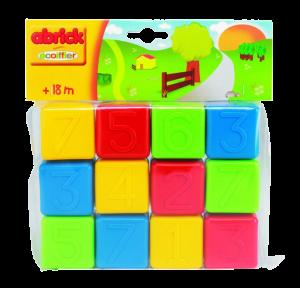 Розвиваючі кубики з цифрами