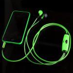 Подарок Светящиеся наушники (зелёные)