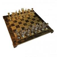 Шахматы 'Греко-римские' в деревянном футляре (коричневые)