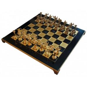 Шахматы 'Геркулес' в деревянном футляре (синие)