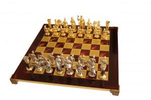Шахматы 'Греко-римские' в деревянном футляре (красные)