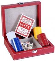 Набор для покера в красном кейсе