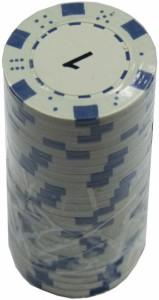 Набор для покера 'Merchant Ambassador' 25 фишек, номинал '1'