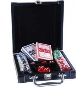 Набор для покера Duke в черном кейсе (DL100)