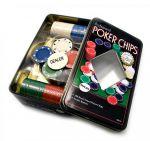 фото Набор для покера в оловянном кейсе (100  фишек) #2