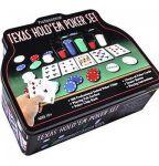 Набор для покера в  оловянном  кейсе (200  фишек, 2 колоды)