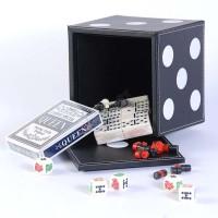 Набор из 5 игр: нарды, шашки, шахматы, домино, карты