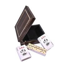 Карты игральные и домино в деревянной шкатулке Duke