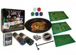 фото Настольная игра 'Набор из 5 игр: Рулетка, Покер, Блек Джек, Кости и Покер Лас-Вегас' #2