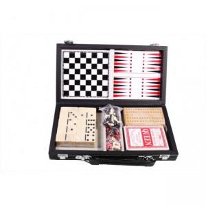 Настольная игра 'Набор из 6 игр: карты, шахматы, шашки, нарды, домино, кости'
