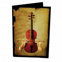 Подарок Обложка для паспорта из кожзама 'Скрипка'