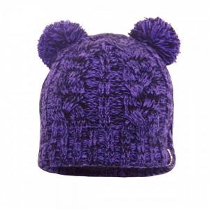 Детская водонепроницаемая шапка DexShell с бубонами фиолетовая