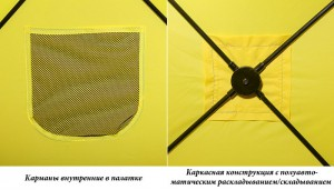 фото Палатка полуавт Holiday Hot Cube 3 175 х 175см #2