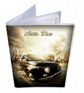 Подарок Обложка для водительских прав 'Ретромобиль'