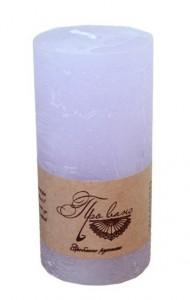 Подарок Свеча сиреневая (15 см)