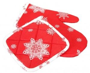 Подарок Прихватка 'Праздничная' красная