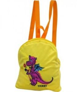 Подарок Рюкзак DERBY с вышивкой 'Дракончик' желтый