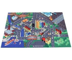 Игровой коврик  с машинкой и дорожными знаками Majorette