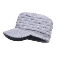 Водонепроницаемая шапка DexShell 'Beanie Peaked' серая с козырьком