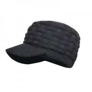 Водонепроницаемая шапка DexShell 'Beanie Peaked' чёрная с козырьком