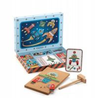 Деревянная игра апликация с молоточком 'Космодром'