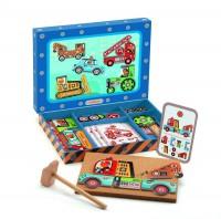 Деревянная игра апликация с молоточком 'Транспорт'