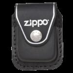 Подарок Чехол Zippo черный с клипсой из натуральной кожи