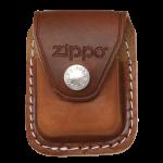 Подарок Чехол Zippo коричневый с клипсой из натуральной кожи