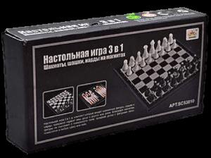 Настольная игра 'Набор шахмат, шашек, нард (3 в 1)'