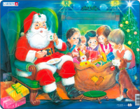 Пазл 'Дед Мороз с детьми'