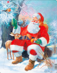 Пазл 'Дед Мороз в лесу'