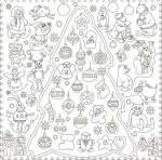 Подарок Обои-раскраски 'Новогодняя Сказка' (60 х 60 см)